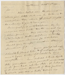 Benjamin Silliman letter to Edward Hitchcock, 1817 October 6