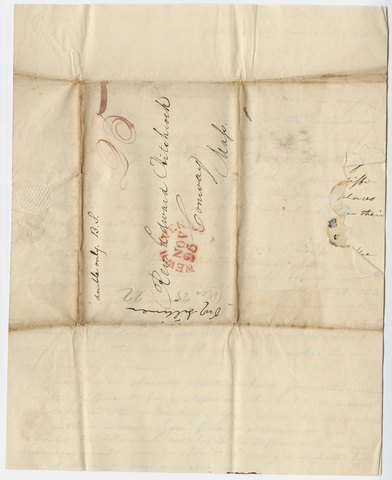 Benjamin Silliman letter to Edward Hitchcock, 1822 November 25