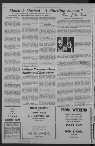 Amherst Student, 1965 April 26