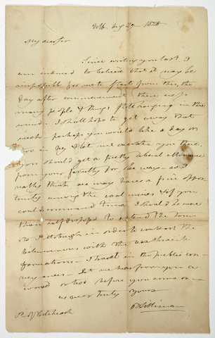Benjamin Silliman letter to Edward Hitchcock, 1828 August 27