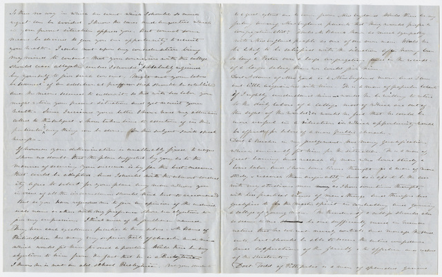 Linus Child letter to Edward Hitchcock, 1847 March 8