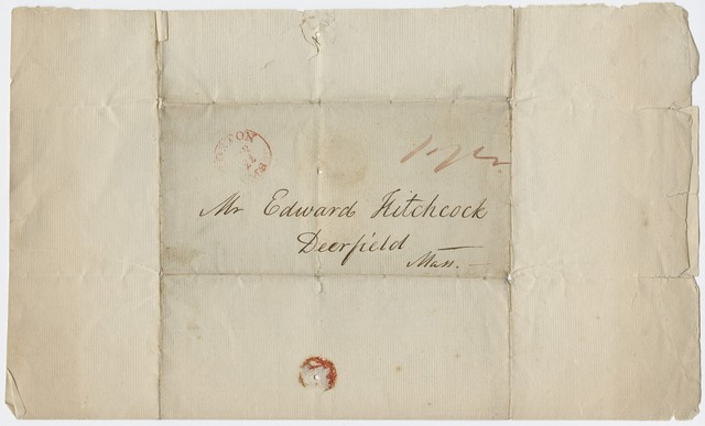 Jacob Bigelow letter to Edward Hitchcock, 1817 April 22