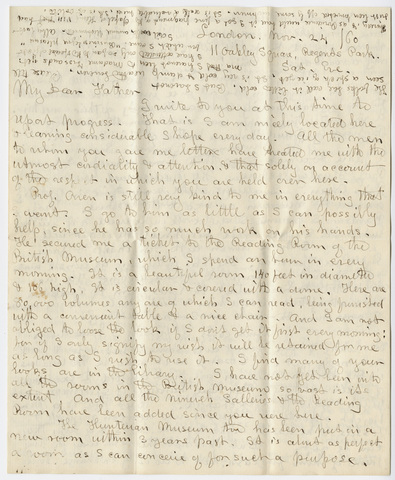 Edward Hitchcock, Jr. letter to Edward Hitchcock, 1860 November 24