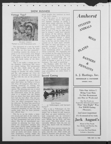 Amherst Student, 1962 May 12, spoof issue
