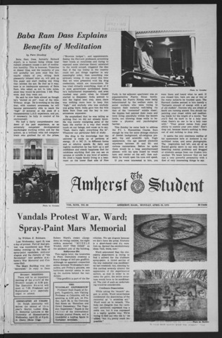 Amherst Student, 1970 April 20