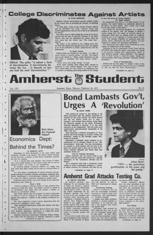 Amherst Student, 1975 February 24