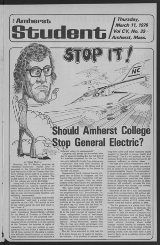 Amherst Student, 1976 March 11