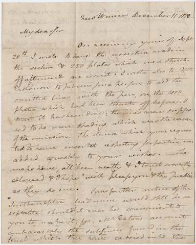 Benjamin Silliman letter to Edward Hitchcock, 1818 December 11