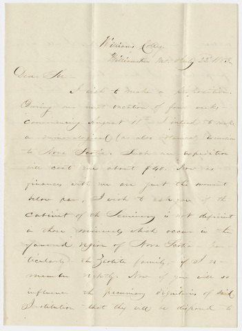 James Orton letter to Edward Hitchcock, 1853 July 22