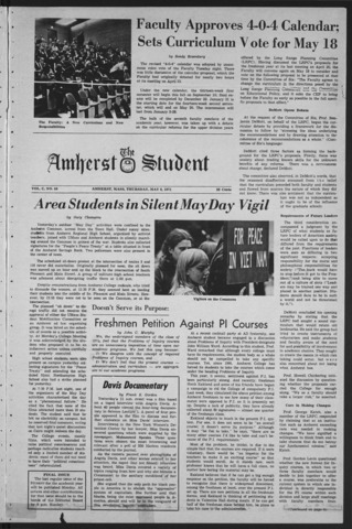 Amherst Student, 1971 May 6