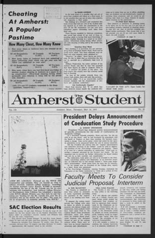 Amherst Student, 1973 May 10