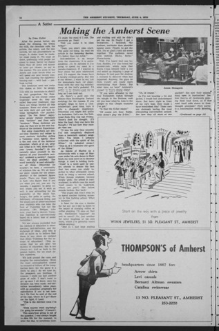 Amherst Student, 1970 June 4, Commencement issue