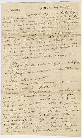 Benjamin Silliman letter to Edward Hitchcock, 1829 August 5