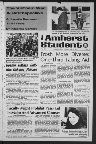 Amherst Student, 1975 May 1