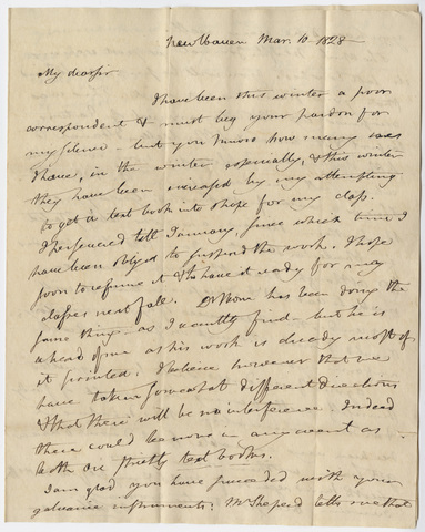 Benjamin Silliman letter to Edward Hitchcock, 1828 March 10