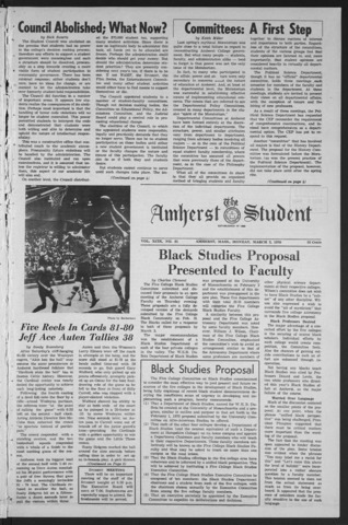 Amherst Student, 1970 March 2