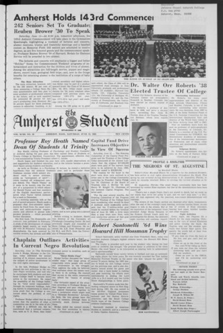 Amherst Student, 1964 June 13, Commencement issue