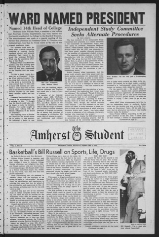 Amherst Student, 1971 February 8