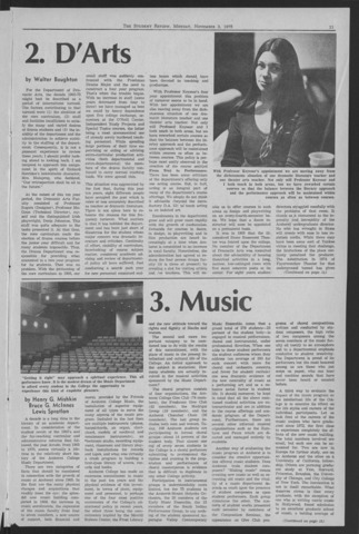 Amherst Student Review, 1975 November 3
