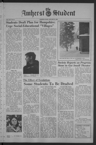 Amherst Student, 1966 January 31
