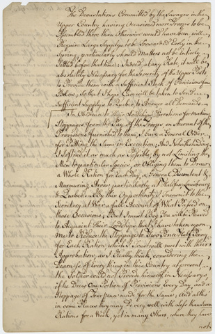 Jeffery Amherst letter to Charles Jenkinson, 1763 October 13