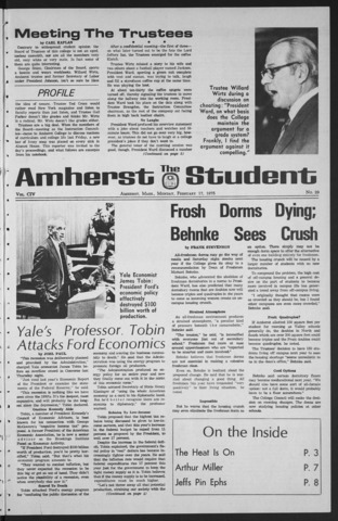 Amherst Student, 1975 February 17