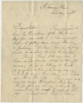 William Amherst letter to Jane Dalison Amherst, 1758