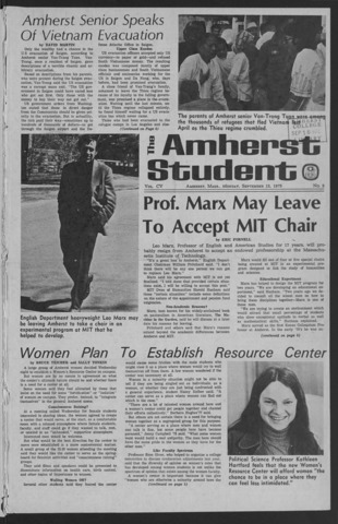 Amherst Student, 1975 September 15