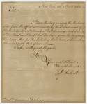 Jeffery Amherst letter to Governor Stephen Hopkins, 1762 April 25