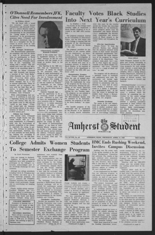 Amherst Student, 1969 April 17