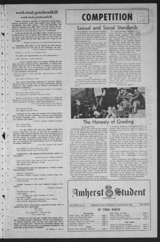 Amherst Student, 1969 January 30