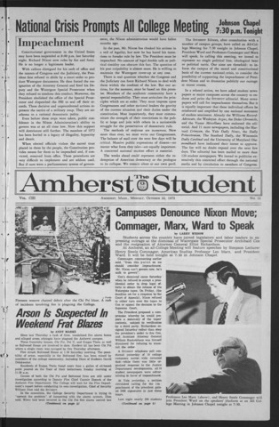 Amherst Student, 1973 October 22