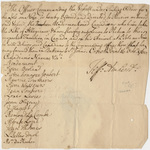 Military orders issued by Jeffery Amherst from Fort Crown Point, New York, 1760 October 16