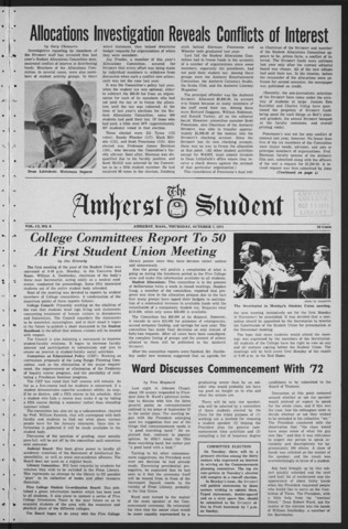 Amherst Student, 1971 October 7