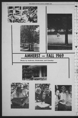 Amherst Student, 1969 October 6