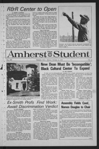 Amherst Student, 1973 October 15