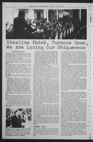 Amherst Student, 1975 June 5, Commencement issue