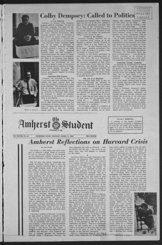 Amherst Student, 1969 April 21