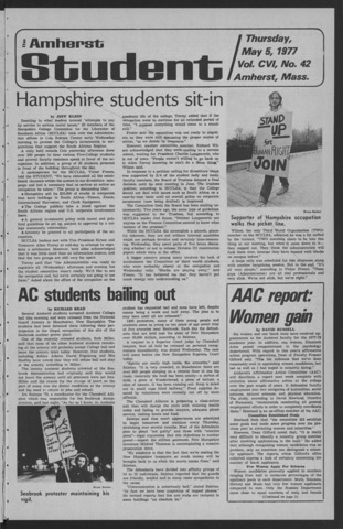 Amherst Student, 1977 May 5