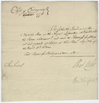 Supply order issued from the Office of Ordnance, countersigned by Jeffery Amherst, 1776 November 1