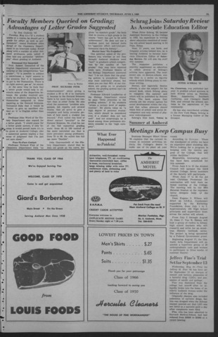 Amherst Student, 1966 June 2, Commencement issue