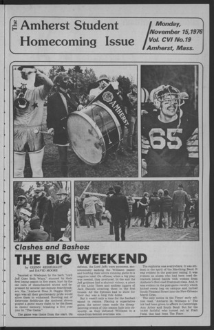 Amherst Student, 1976 November 15, Homecoming issue