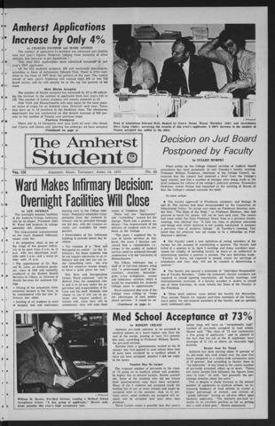 Amherst Student, 1973 April 19
