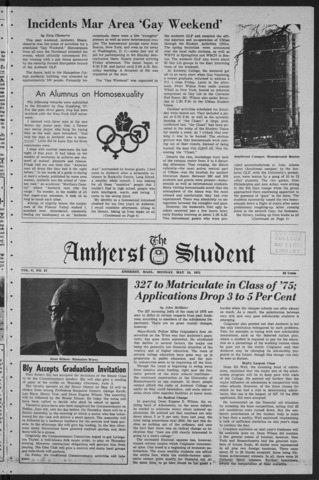 Amherst Student, 1971 May 10