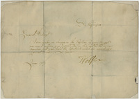 General James Wolfe note to Jeffery Amherst, 1759 June