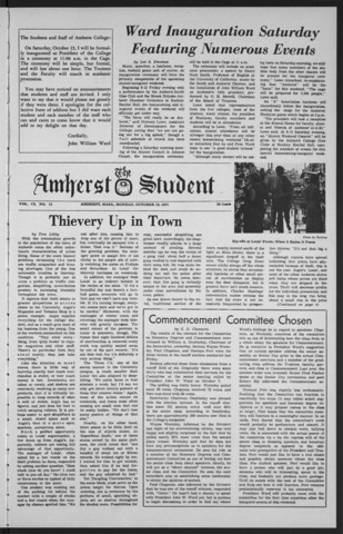 Amherst Student, 1971 October 19