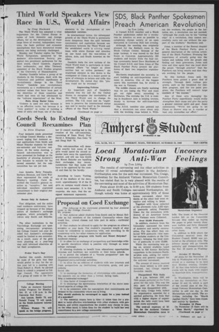 Amherst Student, 1969 October 23