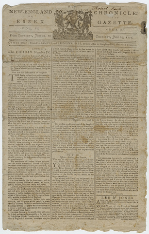 New England Chronicle, or, The Essex Gazette, June 22-29, 1775
