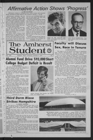 Amherst Student, 1973 October 4