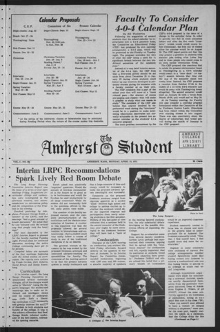 Amherst Student, 1971 April 12